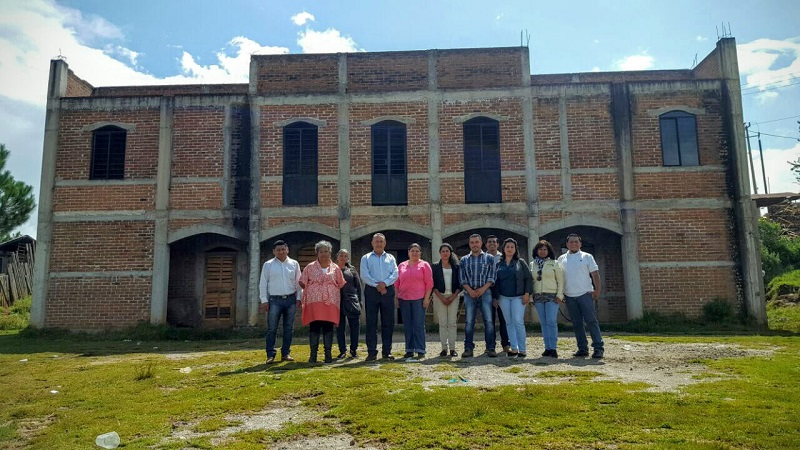 Por votación unánime, ejidatarios de Pucuato, municipio de Hidalgo, donaron un edificio que albergará el plantel 63 del subsistema