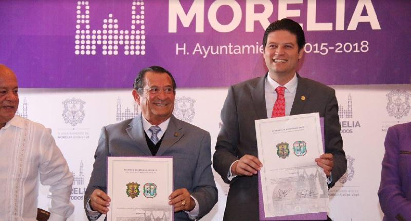 Martínez Alcázar resaltó que ser parte de una Ciudad Patrimonio, nos convierte en custodios de una ciudad que puede ser presumida en todo el mundo, ya que ambos municipios merecen que sus futuras generaciones puedan conocer lo que ofrecen cada una de ellas