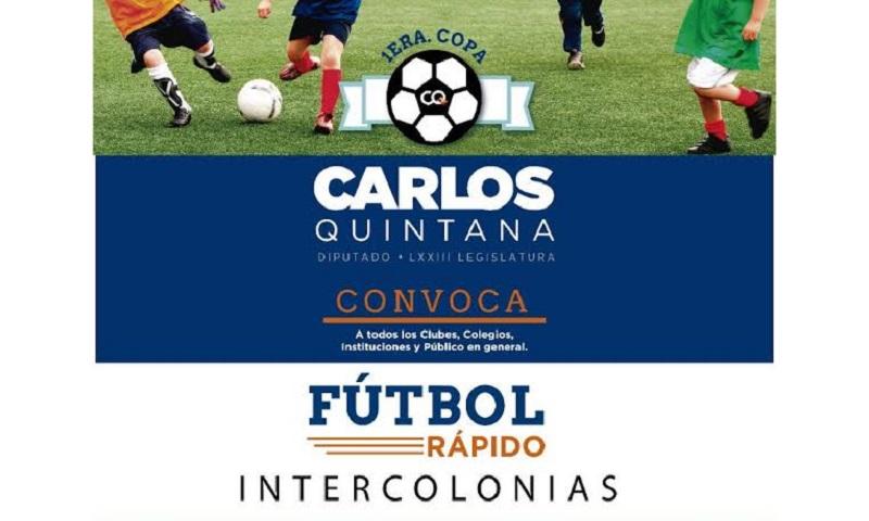 """Del 5 de noviembre al 10 de diciembre se llevará a cabo la """"1era Copa de Fútbol Rápido Intercolonias Carlos Quintana"""", en canchas de los 4 puntos del municipio"""