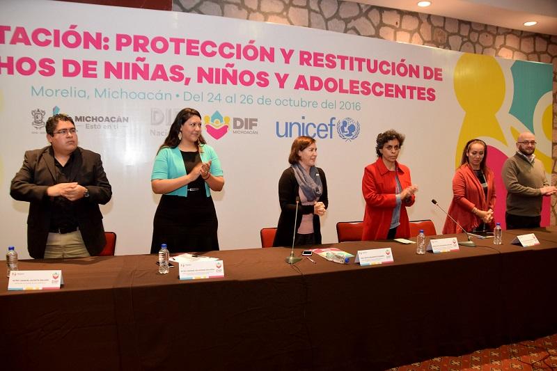 Rocío Beamonte recalcó que el trabajo conjunto entre el Sistema DIF Michoacán con su homólogo a nivel nacional y UNICEF permiten que se realicen este tipo de actividades