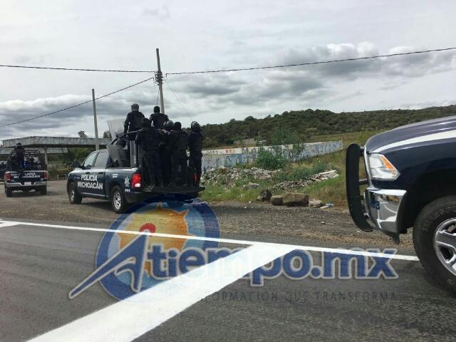 En este momento se encuentra libre la carretera Morelia-Pátzcuaro
