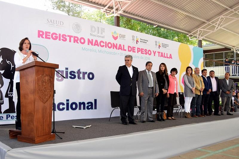 DIF Michoacán arrancó el Programa Nacional de Peso y Talla