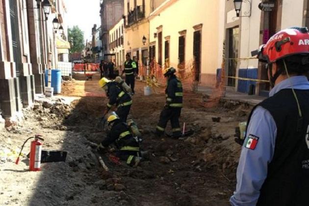 Los cuerpos de emergencia acudieron al lugar a las 10:05 de la mañana, la fuga fue controlada por la empresa distribuidora de gas 25 minutos