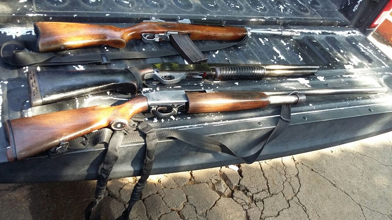 Los detenidos, armas, droga y vehículos fueron puestos a disposición de la autoridad competente