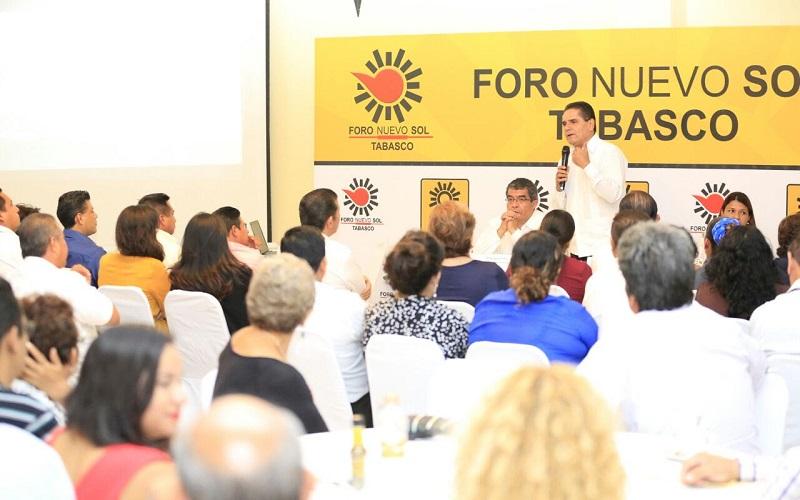 Aureoles Conejo felicitó a sus compañeros por la organización y el compromiso que tienen con su partido
