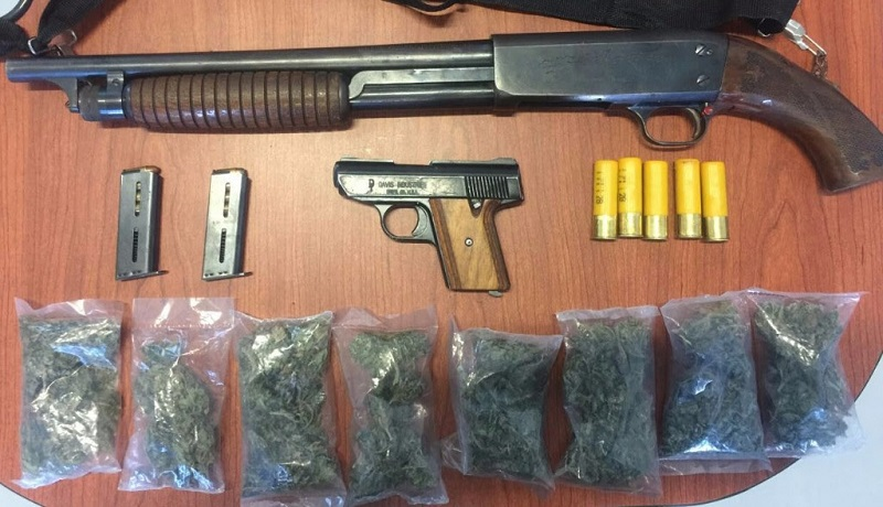 Los presuntos implicados, droga, armas de fuego y vehículos fueron puestos a disposición de la autoridad competente
