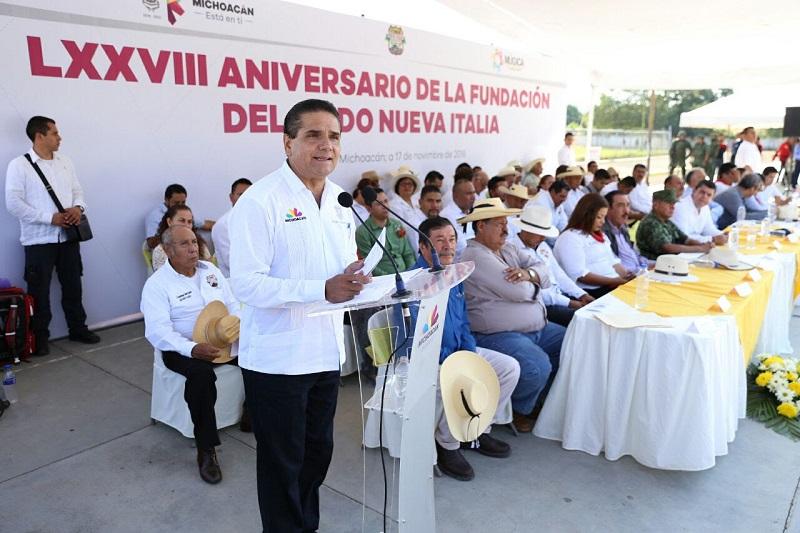Silvano Aureoles dijo que es necesario reflexionar qué ha pasado con los ejidos de Michoacán, los cuales paulatinamente han sido abandonados