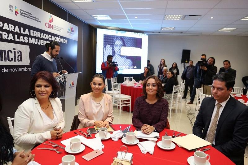 Se da en el marco de las actividades de la Jornada Naranja 2016, con motivo del Día Internacional para la Eliminación de la Violencia contra la Mujer