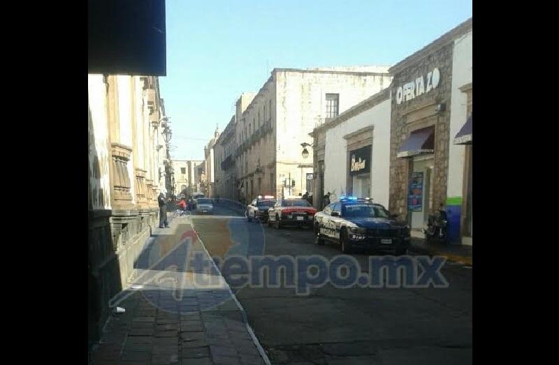 Siguen los robos a establecimientos en el primer cuadro de la capital michoacana (FOTO: FRANCISCO ALBERTO SOTOMAYOR)