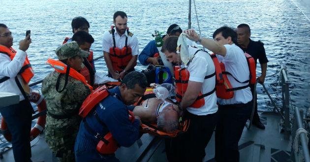 Un hombre de 66 años de edad, de nacionalidad británica, con un traumatismo craneal, necesitaba ser trasladado de emergencia a un hospital