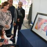 Viridiana Cázares Hernández, pintora y dibujante con discapacidad presenta colección de cuadros en el CREE Morelia