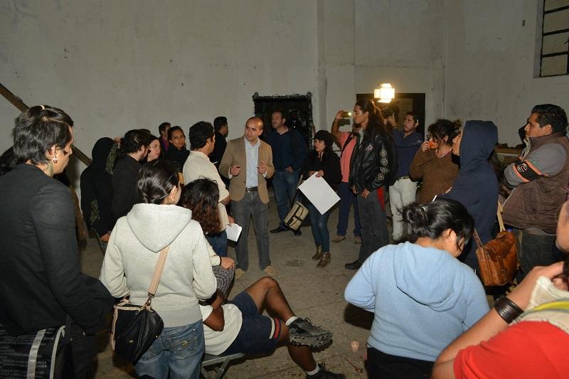 El secretario del Ayuntamiento, Jesús Ávalos Plata, señaló que la idea es reubicar el foro que mantenían los jóvenes, ya que no es posible que sigan realizando su trabajo en un espacio que no les corresponde