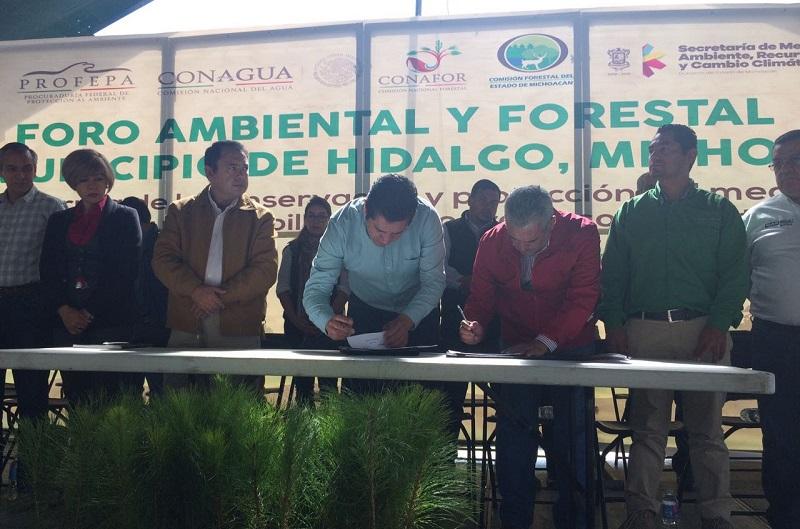 Este municipio ubicado en el Oriente michoacano es uno de los que tienen mayor importancia forestal en el estado y el país, por lo que es necesario instrumentar un Programa de Ordenamiento, Desarrollo Forestal y de Inspección y Vigilancia Forestal