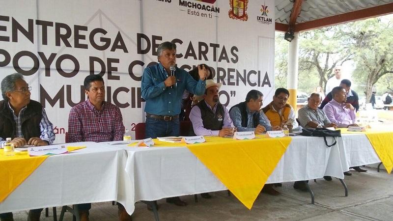 Los Programas Recursos Municipalizados y Michoacán, A Toda Máquina, de los que más beneficios dejan a los municipios, destaca el delegado el delegado regional Saúl Luviano Montalba