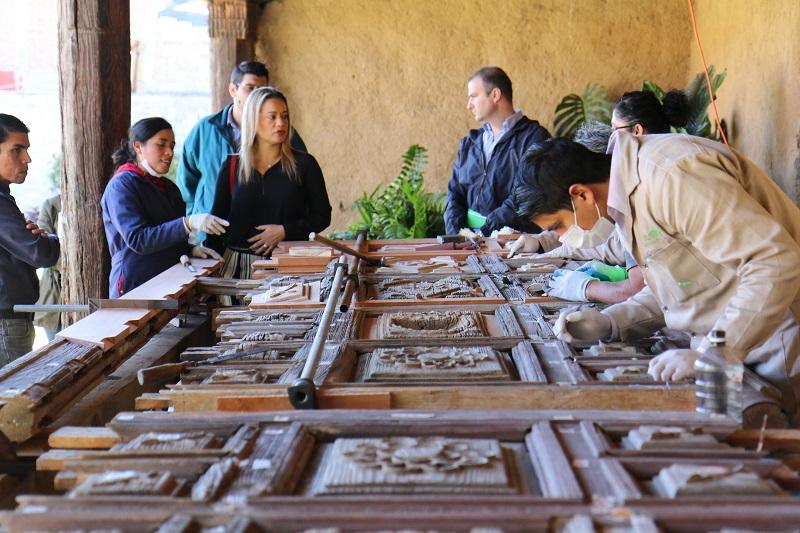 Rehabilitación del portón de San Nicolás Obispo registra 70 por ciento de avance
