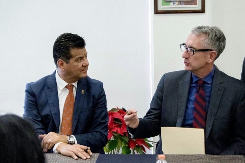 Los representantes de la Embajada se comprometieron a fortalecer la operatividad de los trabajos en el rubro de capacitación, tecnología y equipo estratégico para favorecer un eficiente desempeño de las acciones de la Policía Michoacán