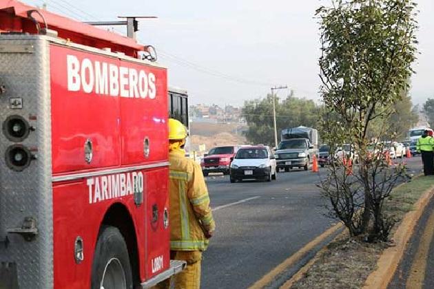 El accidente se registró en el kilómetro 6.5, en los límites entre los municipios de Morelia y Tarímbaro