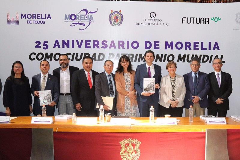 """Encabeza Alfonso Martínez presentación del libro """"Morelia Ciudad Patrimonio"""""""