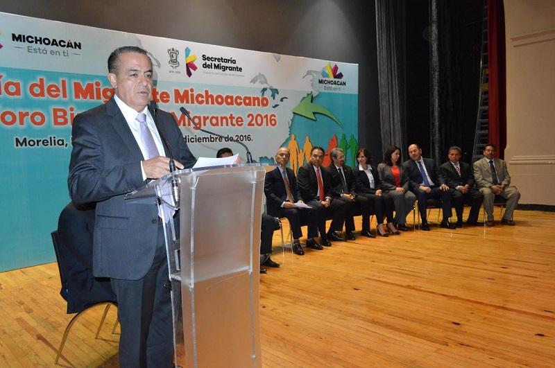 Sigala Páez destacó que el tema de la migración es de suma importancia y al cual se debe plena atención, es por ello que fue el propio Congreso del Estado el que institucionalizó dicha efeméride