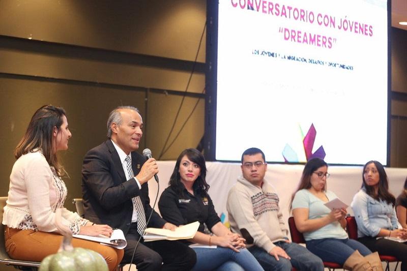 Al brindar un mensaje, el secretario del Migrante, José Luis Gutiérrez, señaló que el Gobierno del Estado, presidido por el Gobernador Silvano Aureoles Conejo, ha instrumentado políticas públicas a favor  de los migrantes