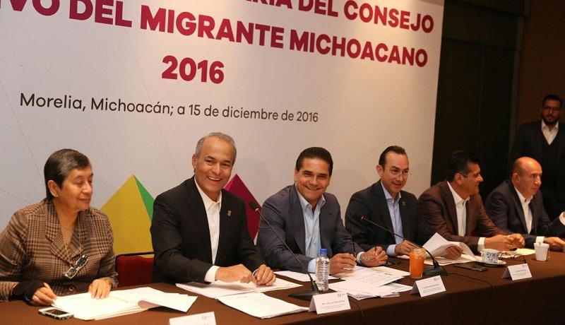 Aureoles Conejo escuchó las propuestas e inquietudes de los connacionales respecto de las políticas y acciones que se emprenden para atender a las y los michoacanos de aquí y más allá de las fronteras