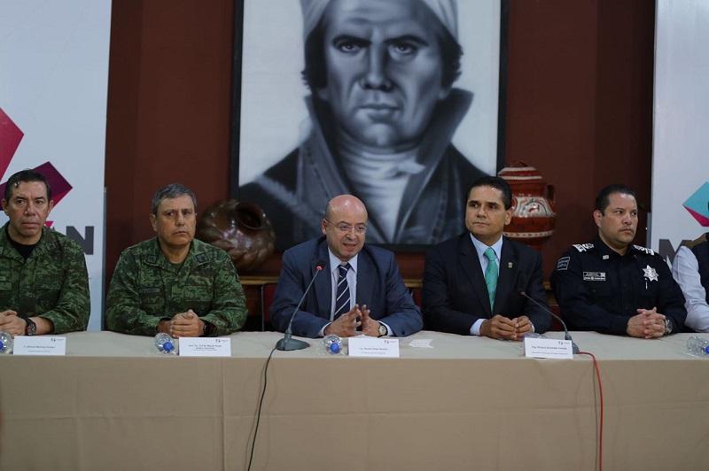 En Michoacán no hay ningún grupo delictivo que tenga hegemonía o que controle territorios, asevera Aureoles Conejo