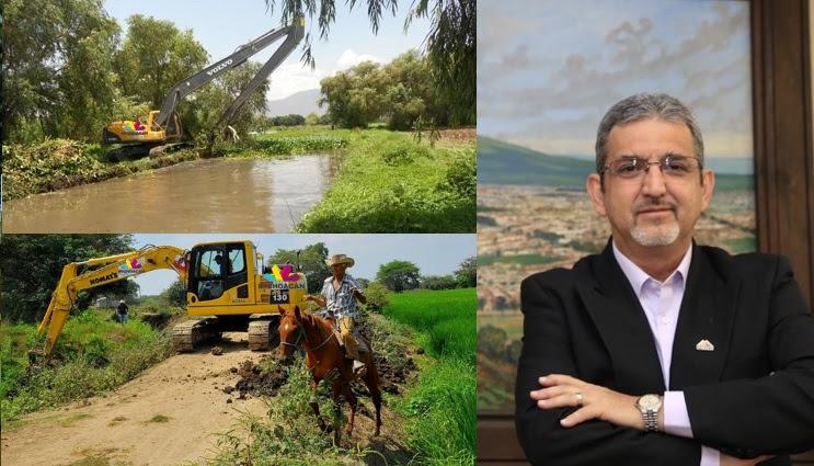 Huergo Maurin destacó que otros trabajos que se realizaron con estos equipos se encuentran también la apertura de 8 mil 358 kilómetros de caminos saca cosechas en los 113 municipios de la entidad