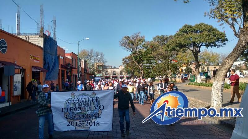 Siguen las manifestaciones por la falta de recursos en Michoacán (FOTOS: FRANCISCO ALBERTO SOTOMAYOR)