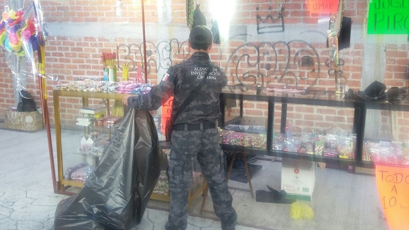 Los artefactos explosivos fueron puestos a disposición del Ministerio Federal, por efectivos de la Policía Federal Ministerial en Morelia