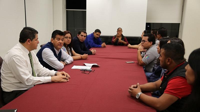Los trabajadores de C4 agradecieron la disposición y apertura de Juan Bernardo Corona, por lo que comprometieron una estrecha coordinación y comunicación en beneficio de todos