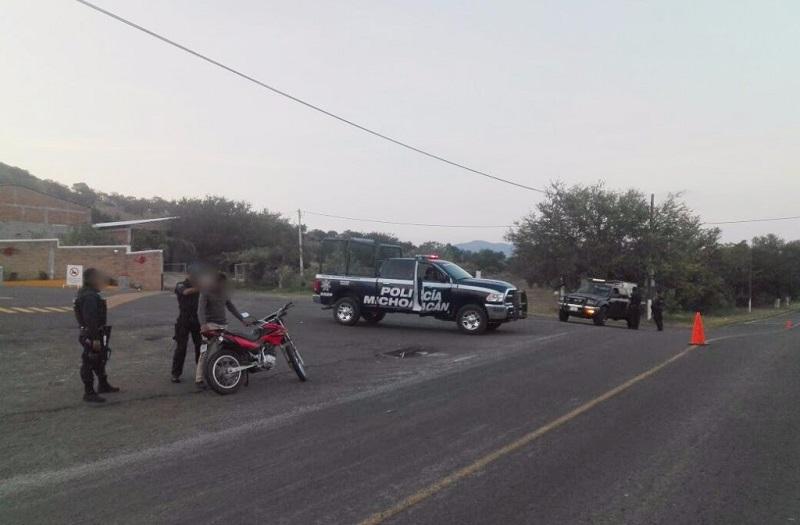 Las acciones operativas que se extendieron hasta los límites con el estado de Guanajuato se llevan a cabo también en Angamacutiro- Pénjamo, La Piedad, Yurécuaro- La Rivera, Cojumatlán- Atizapan y Vista Hermosa - La Barca
