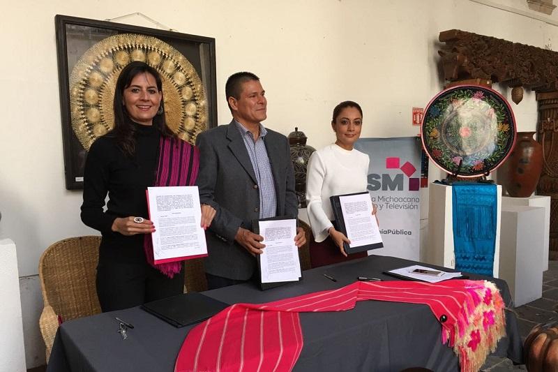 El SMRTV es un instrumento fundamental para la difusión de mensajes públicos que llegan a los hogares de las y los michoacanos y a las y los paisanos en Estados Unidos y Canadá a través del convenio pactado con Mexicanal