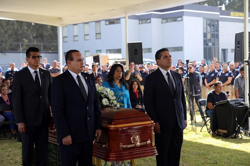 En su intervención, el procurador Martín Godoy señaló que Santiago Pérez vio a la Procuraduría General de Justicia del Estado de Michoacán como el espacio idóneo para servir