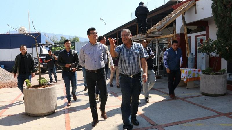 Juan Bernardo Corona supervisó la obra de construcción de lo que será la Dirección de Seguridad Pública (DSP) de ese municipio, cuya primera etapa tuvo una inversión de 969 mil 850 pesos