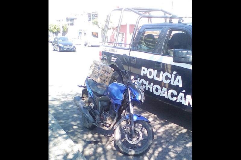 La motocicleta fue asegurada y puesta a disposición ante el Ministerio Público, así como la persona que la manejaba, con el fin de iniciar las investigaciones correspondientes