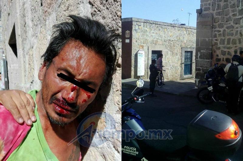 El delincuente quedó tan golpeado que no podía hablar para responder las preguntas de las autoridades (FOTOS: FRANCISCO ALBERTO SOTOMAYOR)