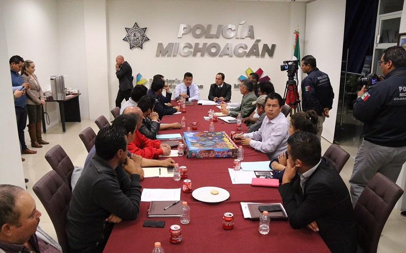 Jesús Ávalos refrendó el compromiso del Presidente Municipal por brindar todo el apoyo en materia de seguridad a las Tenencias de Morelia