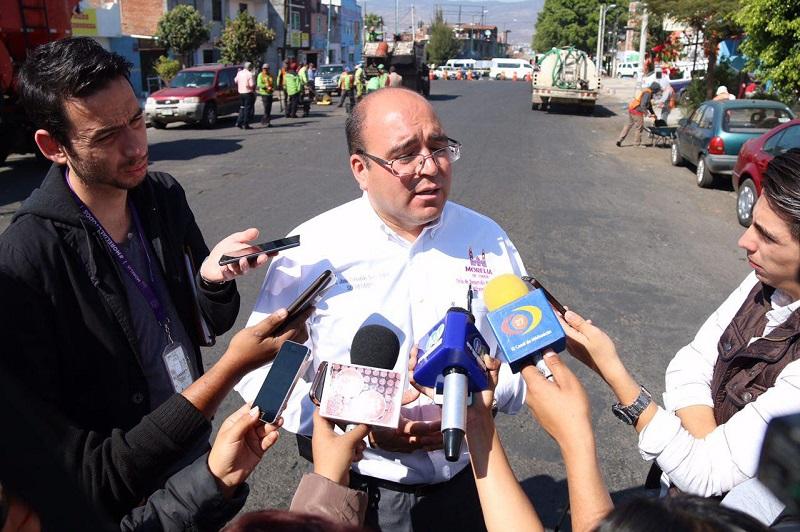 Autoridades municipales solicitan la comprensión de la comuna moreliana por las obras que se llevan a cabo tanto en el Primer Cuadro, como en distintas zonas de la ciudad