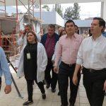 El delegado del ISSSTE fue acompañado por el diputado federal Alfredo Anaya y el alcalde de Sahuayo, Rodrigo Sánchez