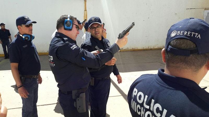 El propósito de la capacitación es reforzar la formación continua de los elementos de seguridad encargados de hacer cumplir la ley, en total adopción de las normas y reglamentaciones que examinan el uso racional de la fuerza y armas de fuego