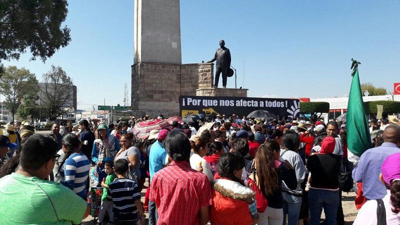 Antonio García Conejo, secretario general del PRD en Michoacán, indicó que las concentraciones masivas se realizaron sin afectar a terceros