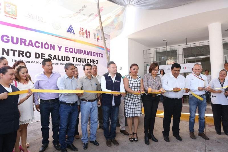 A la fecha se han rehabilitado o dignificado 130 Centros de Salud en toda la geografía michoacana
