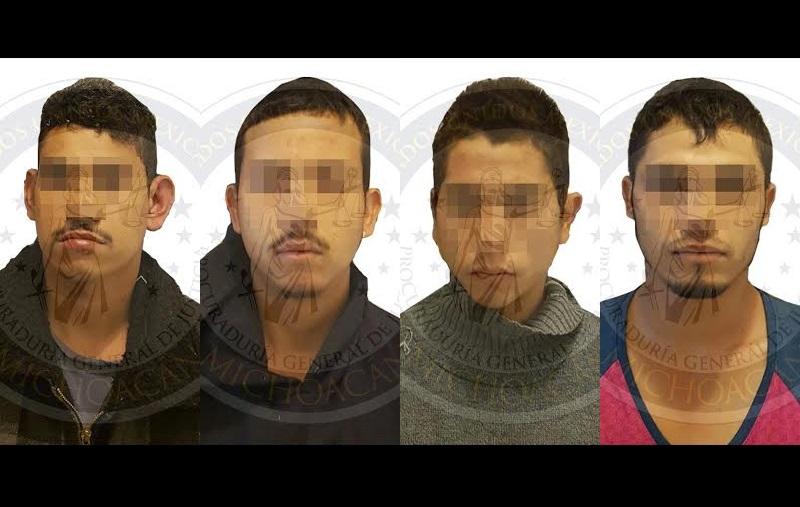Agentes de la Unidad Especializada en el Combate al Secuestro (UECS) lograron la captura de los imputados identificados como Jesús Alberto V., Vicente G., Rafael S., y José Manuel P., de 19, 22, 24 y 25 años, respectivamente