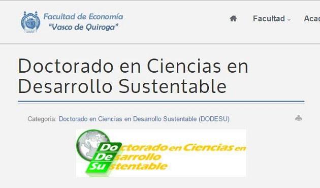 """Abierta la Convocatoria 2017-2021 en la Facultad de Economía """"Vasco de Quiroga"""""""