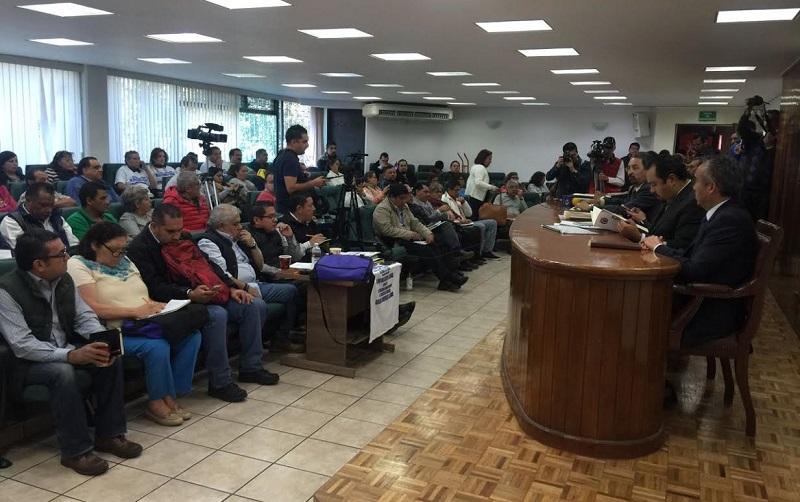 Serna González expresó que su administración se ha dedicado a la atención y solución de los asuntos presentados por el SUEUM ante la autoridad laboral, habiendo hasta ahora un avance importante en los temas analizados