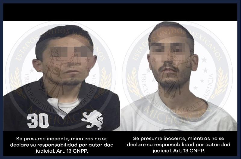 Al momento de su detención, a los presuntos criminales se les aseguró una motocicleta con irregularidades y metanfetaminas