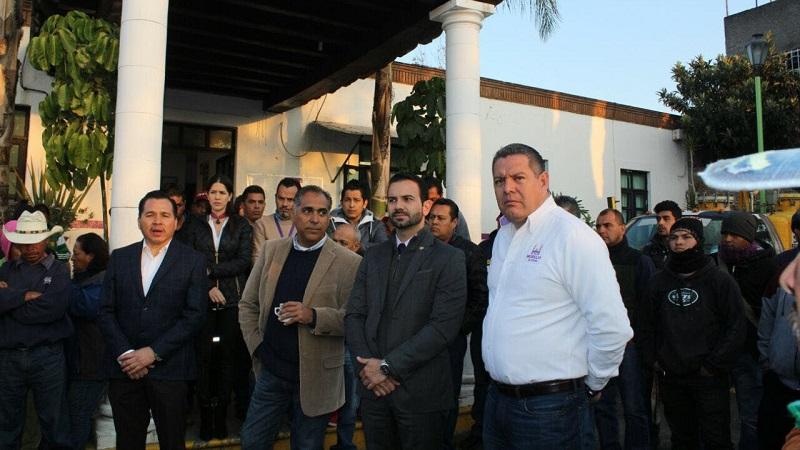 Por su parte, José Luis Gil Vázquez, Secretario de Servicios Públicos, se dirigió al nuevo funcionario, para darle la bienvenida y externarle su apoyo