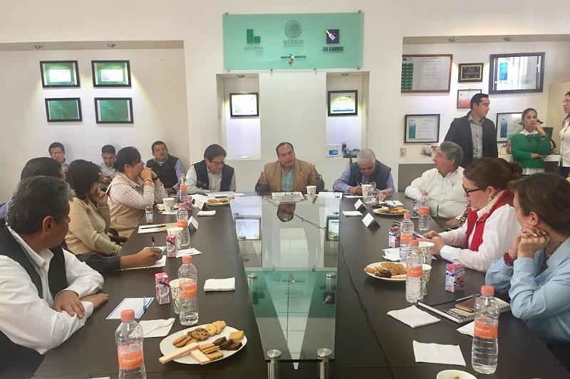 La videoconferencia fue encabezada por Héctor Pablo Ramírez, director general de LICONSA, para reforzar las diversas áreas de trabajo