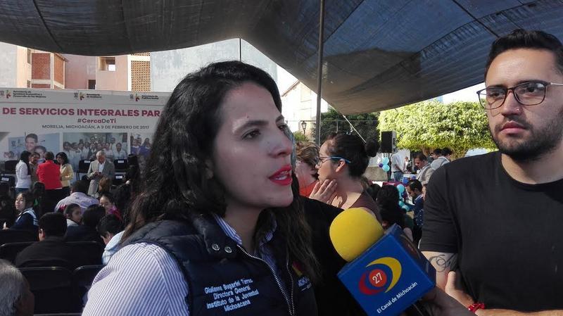 En Michoacán hay un promedio de 1 millón 400 mil personas consideradas jóvenes (de 12 a 29 años) los cuales se enfrentan diariamente a problemas de adicciones, deserción escolar y delincuencia entre otros problemas, dijo la funcionaria