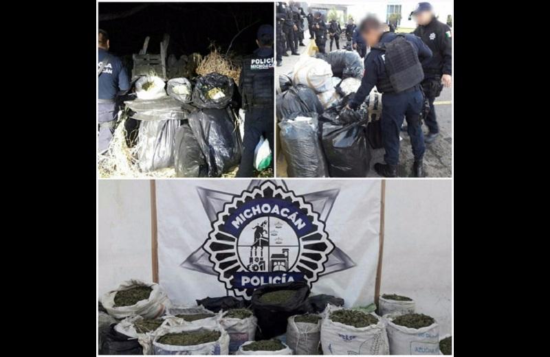 Los presuntos implicados, droga, vehículo, arma de fuego y equipo táctico fueron puestos a disposición de la autoridad competente